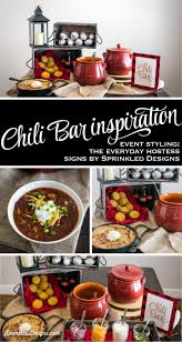 chili bar sign gold red black buffalo plaid flannel lumberjack