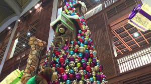 big christmas tree at the mall wtc abu dhabi youtube