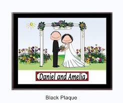 personalized wedding plaque wedding gifts personalized wedding presents cowboy chuck