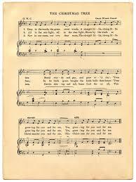 05 the christmas tree sheet music printable the graphics fairy