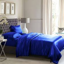 duvet covers royal blue silk duvet cover solid bright single
