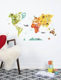 world map wall decal walldecals com world map wall decal