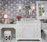 miami knee space bathroom eclectic with chandelier glass lotion
