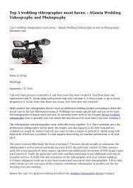 videographer atlanta top 5 wedding videographer must haves atlanta wedding videography