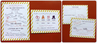 wedding invitations timeline colorful swirls stripes modern wedding invitations emdotzee