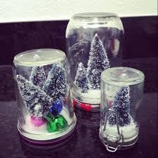 decoration easy handmse christmas glass jar snow globe craft