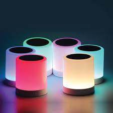 led light bluetooth speaker polaroid bluetooth touch speaker with 7 led light effects homemark