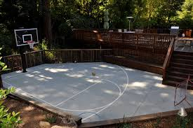 Backyard Basketball Hoops by Outdoor Basketball Court Landscape Traditional With Basketball