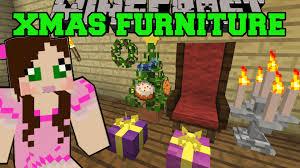 minecraft christmas furniture grand chair wreath lights tree