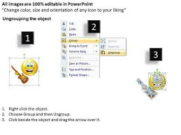 business charts powerpoint templates music smiley emoticon with