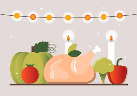 free thanksgiving dinner vector elements free vector