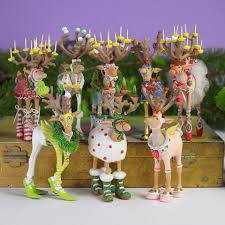 patience brewster dash away mini reindeer ornaments set of 8