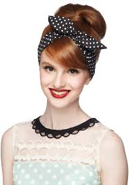 retro headbands all neutral shift dress wire headband modcloth and polka dot print