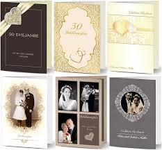 einladungskarten goldene hochzeit mit foto einladungen zur goldene hochzeit