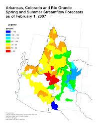 I 70 Colorado Map by Spring U0026 Summer Streamflow Forecast Maps Colorado