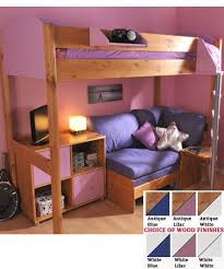 Bunk Bed With Pull Out Bed Sofa Cool Teenager Room With Storage Bunk Beds And Loft Beds