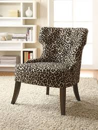 furniture elegant animal print tufted upholstered accent