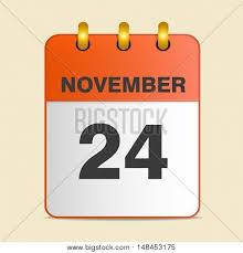 thanksgiving day calendar 24 vector photo bigstock