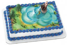 bass fish cake cake decorating kits toppers field field