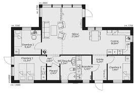 plan de maison plain pied 4 chambres source d inspiration plan maison 4 chambres impressionnant