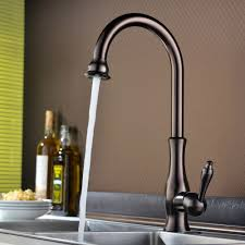 Kitchen Sinks Faucets by Tracier Single Handle Gooseneck Vintage Kitchen Sink Faucet