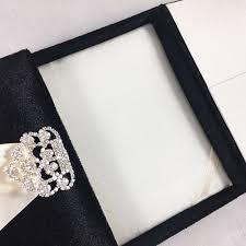 wedding box black velvet wedding box rhinestone clasp embellishment