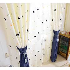 White And Blue Curtains Custom Chenille Blue White Curtains