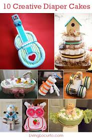 10 creative diaper cakes cute diy baby shower party ideas baby