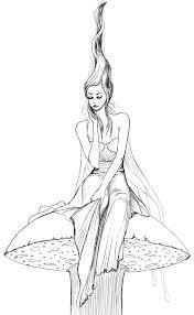 mushroom fairy sketch by basaktinli on deviantart