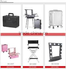 Portable Hair And Makeup Stations 2016 Fashionable Design Portable Cosmetic Case Makeup Station With