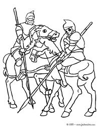 coloriages chevaliers à cheval fr hellokids com