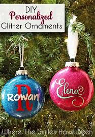 ornaments to personalize diy personalized glitter ornaments glitter ornaments