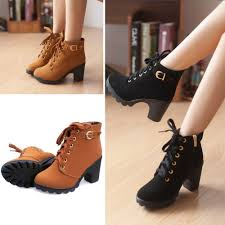 ladies ankle biker boots women biker motorcycle ankle boots high heels suede lace up punk