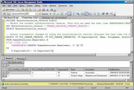 Sql Change Table Name Obtaining Data Changes With Change Tracking In Sql Server 2008