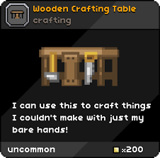 How To Craft A Crafting Table Wooden Crafting Table Starbound Wiki Fandom Powered By Wikia
