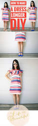 diy how to make a short dress longer