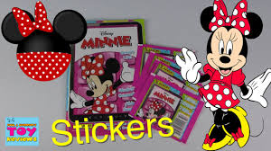 minnie mouse photo album minnie mouse panini sticker album pack opening disney