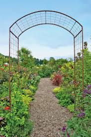 rose trellis jardin rose arch gardener u0027s supply