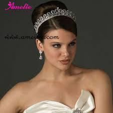 bridal tiara rhinestone royal big bridal tiara wedding hair crown buy bridal