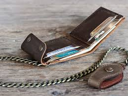 mens travel wallet images High quality leather chic chain wallet gifts for men jpg