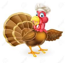 Thanksgiving Bird Thanksgiving Or Turkey Bird In Chef Hat Pointing