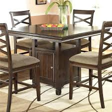 Square Pedestal Table 36 X 48 Inch Dining Table Hayley Contemporary Square Counter