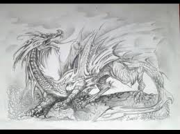 drawing a dragon full body and wings graphite pencils easy
