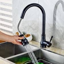 kitchen faucets oil rubbed bronze deck mount pull out oil rubbed bronze kitchen faucet swivel spout