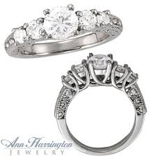 5 engagement ring 14k white gold 7 8 ct tw antique style 5 engagement