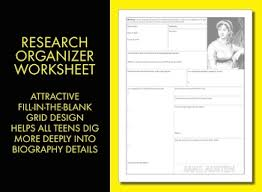 jane austen author biography austen author study worksheet easy biography activity ccss