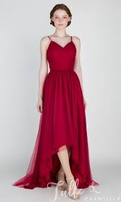 beautiful dress beautiful high low tulle bridesmaid dress with v neck tbqp436