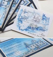 Map Wedding Invitations Hand Painted Greece Destination Wedding Invitesmomental Designs