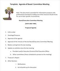 sample board meeting agenda template 11 free documents in pdf word