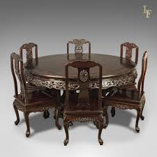 rosewood dining room furniture traditional oriental rosewood dining table and set of 6 chairs